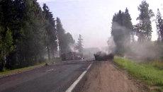 Видеорегистратор зафиксировал момент столкновения машин в Белоруссии