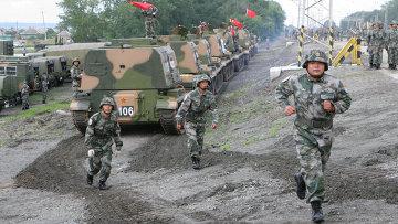 Совместные российско-китайские учения Мирная миссия. Архивное фото