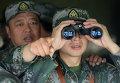 Китайские военнослужащие в штабе