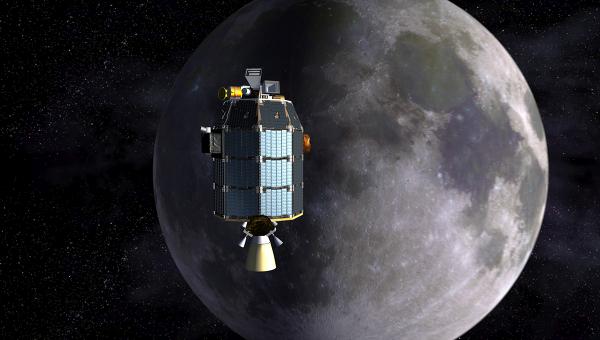Лунный зонд НАСА LADEE глазами художника
