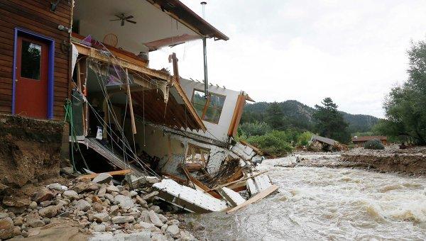 Наводнение в американском штате Колорадо. Фото с места события