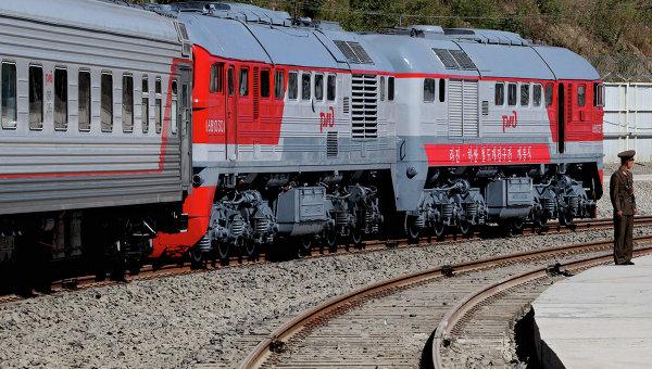 Участок железной дороги между станциями Хасан и Раджин, архивное фото