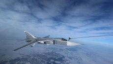 Дозаправка в воздухе истребителя-перехватчика Су-24. Архивное фото