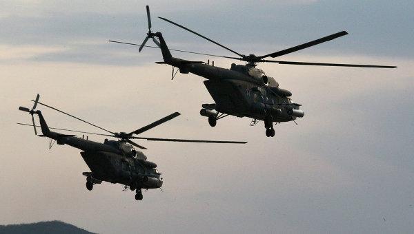 Вертолеты Ми-8 АМТШ Терминатор. Архивное фото
