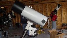 Российский телескоп САНТЕЛ-400АН в обсерватории ISON-NM, архивное фото
