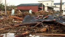 Разрушенные дома и поваленные деревья – последствия тайфуна Випа в Японии