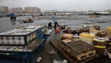 Вывоз товара с овощебазы Новые Черемушки в Бирюлево. Архивное фото