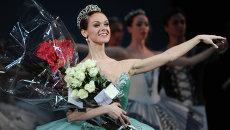 Солистка Мариинского театра Ульяна Лопаткина в сцене из балета Симфония до мажор