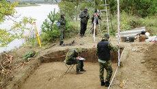 Археологические раскопки в Амурской области, Албазинский острог. Архивное фото