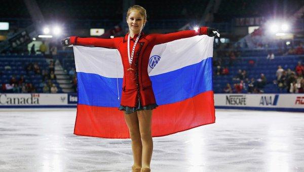 Российская фигуристка Юлия Липницкая на турнире Скейт Канада. Фото с места события