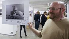 Валерий Левитин на открытии  персональной выставки Полная версия в Центре фотографии имени братьев Люмьер. Архивное фото