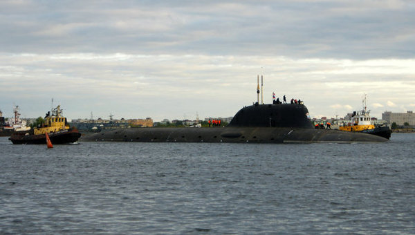 Первый выход подводной лодки Северодвинск