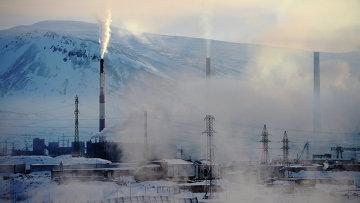 Вид на промышленную зону в Норильске. Архивное фото