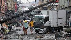 Последствия тайфуна на Филиппинах, архивное фото