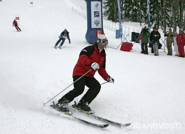 Президент России Владимир Путин на горнолыжном курорте Красная Поляна