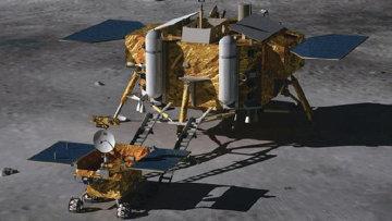 Китайский зонд Чанъэ-3. Архивное фото
