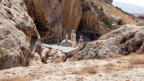 Монастырь Святой Феклы в Маалюле, архивное фото