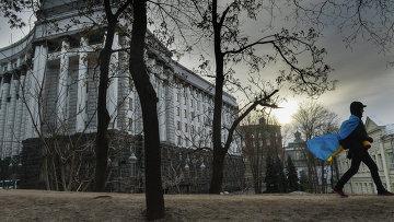 Здание правительства Украины в Киеве, архивное фото