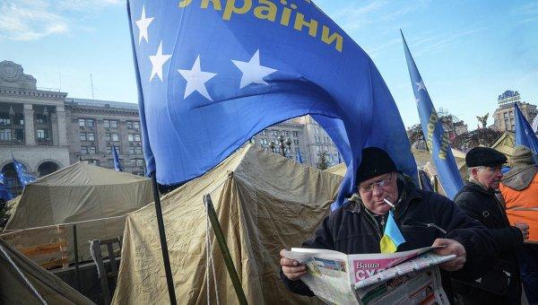 Акция сторонников евроинтеграции на Украине. Архивное фото
