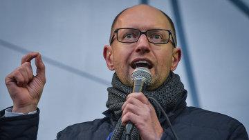 Лидер оппозиционной парламентской фракции Батькивщина Арсений Яценюк. Архивное фото