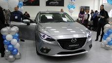 На открытии автосалона Mazda в Томске, событийное фото