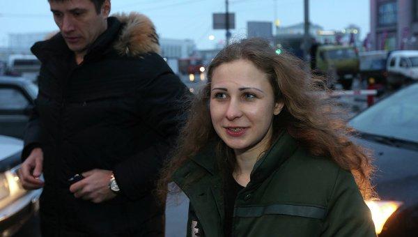 Участница группы Pussy Riot Мария Алехина вышла на свободу по амнистии. Фото с места события