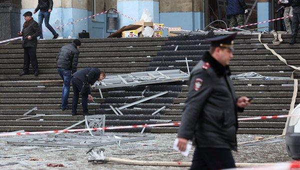 Теракт на железнодорожном вокзале в Волгограде, фото с места события