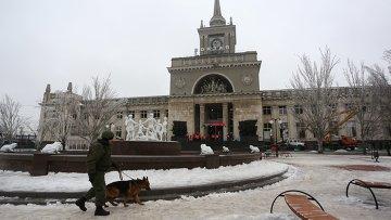 Железнодорожный вокзал Волгограда после теракта