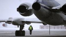 Туман в аэропорту, архивное фото