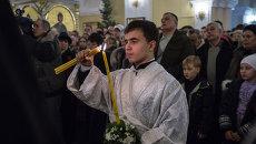 Рождественская литургия в Покровском кафедральном соборе Владивостока