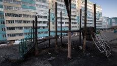 Игра со спичками превратила детскую площадку в Приморье в пепелище. Фото с места событий