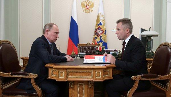 В.Путин провел встречу с П.Астаховым в Ново-Огарево
