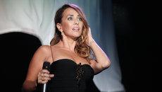 Певица Жанна Фриске на церемонии вручения премии Женщина года Glamour 2009