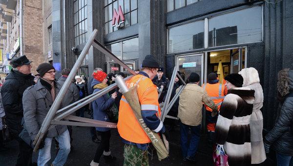 Инцидент на зеленой ветке московского метро
