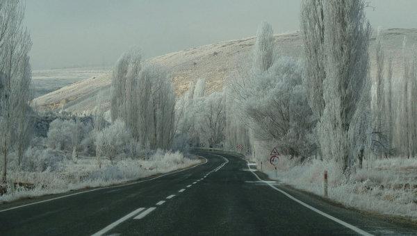Зимняя дорога в Турции. Архивное фото