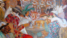 Картина художника Бориса Григорьева В ресторане