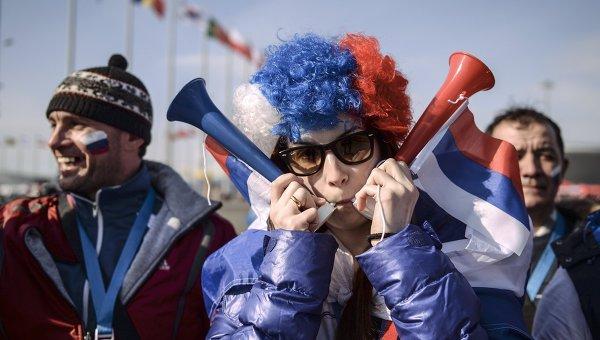 Болельщики в Олимпийском парке Сочи