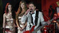 Сергей Паук Троицкий на церемонии вручения общественной антипремии Золотая репа в Новосибирске, событийное фото