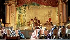 Сцена из оперы Адриана Лекуврер