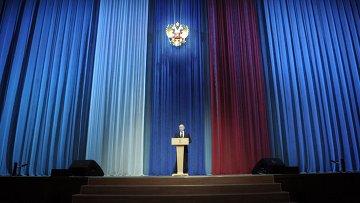 Владимир Путин посетил концерт, посвященный Дню защитника Отечества в Кремле. Фото с места событий