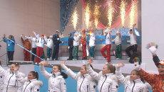 Огонь Паралимпиады зажгли от огромного сердца на эстафете в Москве