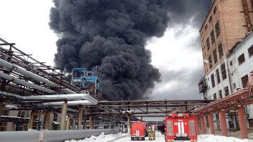 Пожар на заводе Омский каучук