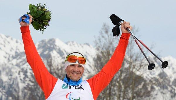 Российский биатлонист Роман Петушков, завоевавший золото Паралимпиады