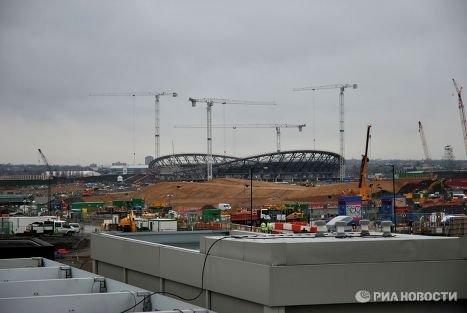 Большая лондонская стройка в Лондоне за 2,5 года до Олимпийских игр