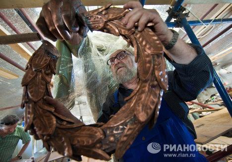 Золотая стадия реставрационных работ в Большом театре