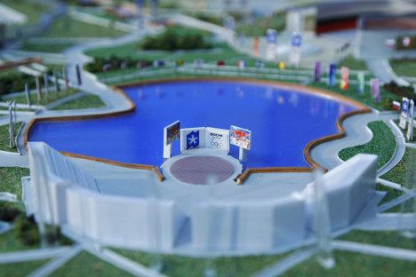 Планировочный макет комплекса олимпийских объектов Сочи 2014