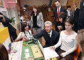 Мэр Москвы Сергей Собянин посетил московскую школу №1060