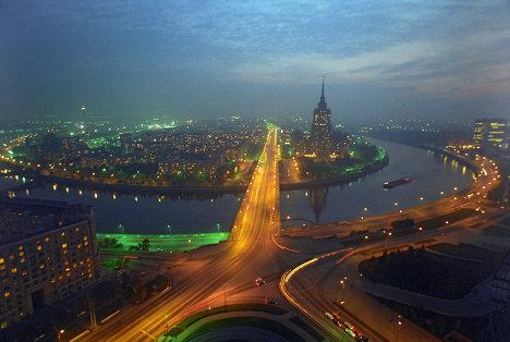 Москва, панорама, гостиница Украина
