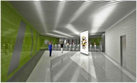 Вестибюль станции метро Новокосино