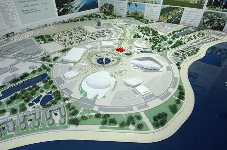 Макет Олимпийского парка в Имеретинской долине
